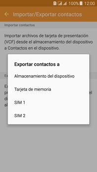¿Tu equipo puede copiar contactos a la SIM card? - Samsung Galaxy J7 - J700 - Passo 8
