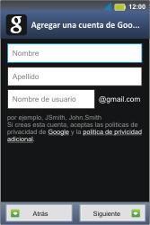 Crea una cuenta - Motorola MotoSmart Me  XT303 - Passo 5