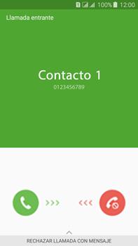 Contesta, rechaza o silencia una llamada - Samsung Galaxy J7 - J700 - Passo 2