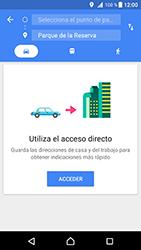 Uso de la navegación GPS - Sony Xperia XZ Premium - Passo 13