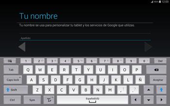 Crea una cuenta - Samsung Galaxy Note Pro - Passo 5