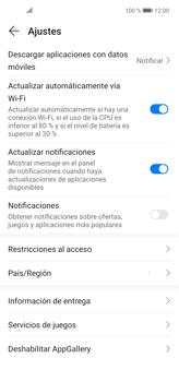 Cambiar configuración de actualizaciones de aplicaciones - Huawei P40 Lite - Passo 7