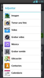 Envía fotos, videos y audio por mensaje de texto - LG Optimus G Pro Lite - Passo 12