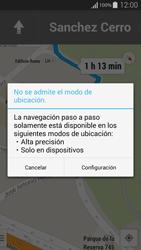 Uso de la navegación GPS - Samsung Galaxy Alpha - G850 - Passo 17