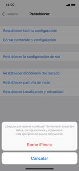 Restaura la configuración de fábrica - Apple iPhone XS - Passo 7