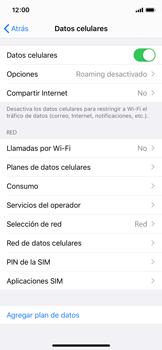 Cómo seleccionar una red en tu teléfono manualmente - Apple iPhone XS - Passo 4