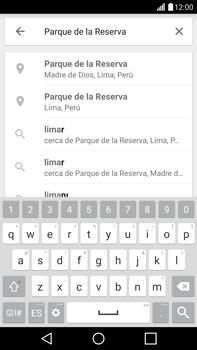 Uso de la navegación GPS - LG G4 - Passo 8