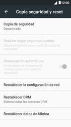 Restaura la configuración de fábrica - Alcatel Pixi 4 5 - OT5045 - Passo 5