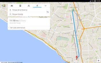 Uso de la navegación GPS - Samsung Galaxy Note Pro - Passo 16