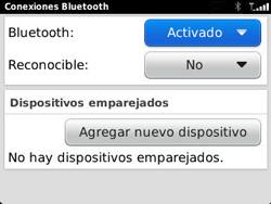 Conecta con otro dispositivo Bluetooth - BlackBerry Curve 9320 - Passo 8