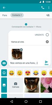 Envía fotos, videos y audio por mensaje de texto - Motorola Moto G6 Play - Passo 17