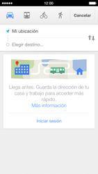 Uso de la navegación GPS - Apple iPhone 5s - Passo 12