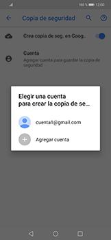 Realiza una copia de seguridad con tu cuenta - Huawei Mate 20 Lite - Passo 10