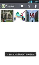 Transferir fotos vía Bluetooth - LG Optimus L7 - Passo 11