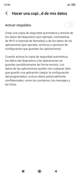 Realiza una copia de seguridad con tu cuenta - Xiaomi Redmi Note 9 Pro - Passo 7
