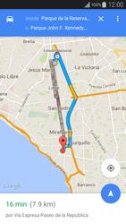 Uso de la navegación GPS - Samsung Galaxy A3 - A300M - Passo 13