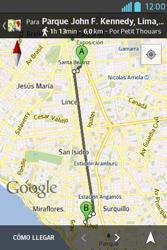 Uso de la navegación GPS - LG L4 II - Passo 18
