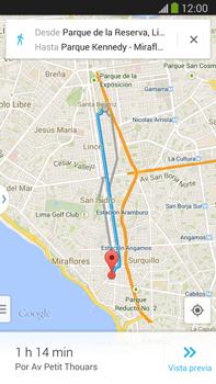 Uso de la navegación GPS - Samsung Galaxy Note Neo III - N7505 - Passo 15