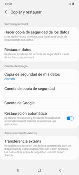 Realiza una copia de seguridad con tu cuenta - Samsung Galaxy S10 Lite - Passo 9
