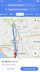 Uso de la navegación GPS - Apple iPhone 7 - Passo 15