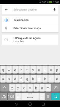 Uso de la navegación GPS - Huawei Mate S - Passo 13