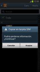 ¿Tu equipo puede copiar contactos a la SIM card? - Samsung Galaxy S 3  GT - I9300 - Passo 9