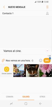 Envía fotos, videos y audio por mensaje de texto - Samsung Galaxy S8 - Passo 12