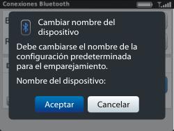Conecta con otro dispositivo Bluetooth - BlackBerry Curve 9320 - Passo 9