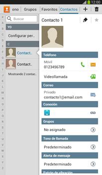 ¿Tu equipo puede copiar contactos a la SIM card? - Samsung Galaxy Tab 3 7.0 - Passo 4