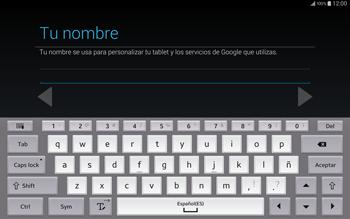 Crea una cuenta - Samsung Galaxy Note Pro - Passo 6