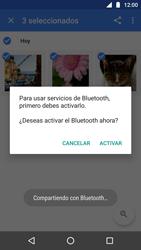 Transferir fotos vía Bluetooth - Motorola Moto G5 - Passo 8