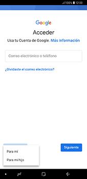 Crea una cuenta - Samsung A7 2018 - Passo 5