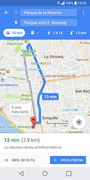 Uso de la navegación GPS - LG Q6 - Passo 16
