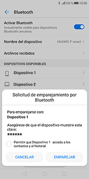 Conecta con otro dispositivo Bluetooth - Huawei P Smart - Passo 8
