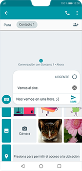 Envía fotos, videos y audio por mensaje de texto - Huawei P20 - Passo 9