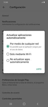 Cambiar configuración de actualizaciones de aplicaciones - Samsung Galaxy S20 - Passo 9