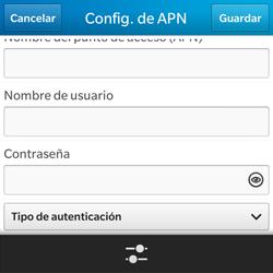 Configura el Internet - BlackBerry Q5 - Passo 9