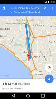 Uso de la navegación GPS - LG G4 - Passo 19