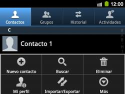 ¿Tu equipo puede copiar contactos a la SIM card? - Samsung Galaxy Y Pro GT - B5510 - Passo 4