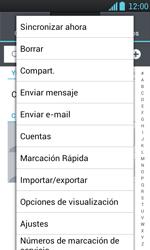 ¿Tu equipo puede copiar contactos a la SIM card? - LG Optimus L7 - Passo 5