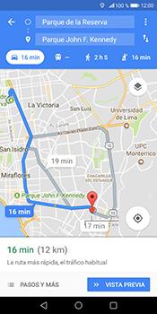 Uso de la navegación GPS - Huawei Mate 10 Pro - Passo 15