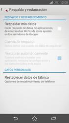 Restaura la configuración de fábrica - Sony Xperia Z3 D6603 - Passo 5