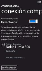 Configura el hotspot móvil - Nokia Lumia 800 - Passo 6