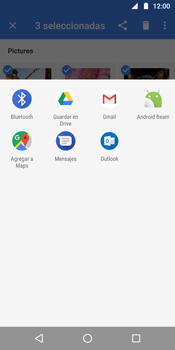 Transferir fotos vía Bluetooth - Motorola Moto G6 Plus - Passo 9