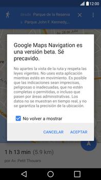 Uso de la navegación GPS - LG V10 - Passo 21