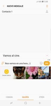 Envía fotos, videos y audio por mensaje de texto - Samsung Galaxy S8+ - Passo 12
