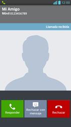 Contesta, rechaza o silencia una llamada - LG Optimus G Pro Lite - Passo 4