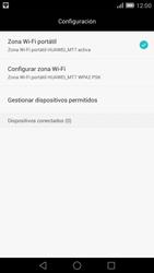 Configura el hotspot móvil - Huawei Ascend Mate 7 - Passo 11