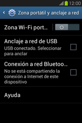 Configura el hotspot móvil - Samsung Galaxy Fame GT - S6810 - Passo 6