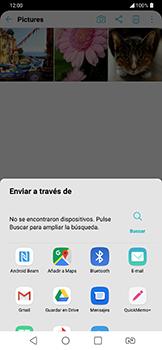 Transferir fotos vía Bluetooth - LG G7 Fit - Passo 9
